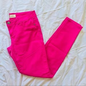 L.E.I • Hot Pink Ashley Low Rise Skinny Jeans